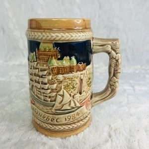 Other - Quebec 1984 Vintage Beer Stein Hand Painted Ships